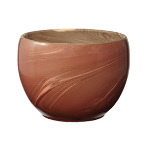 Heartwood Red Swirled Clay Pot Vase/urn