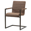 Gerald PU Leather Arm Chair (Set of 2) Kalahari Brown