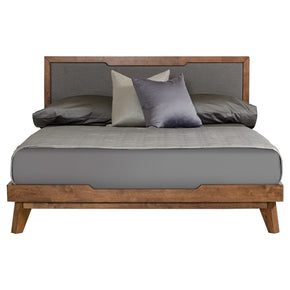 Nova Domus Soria Modern Grey & Walnut Bed