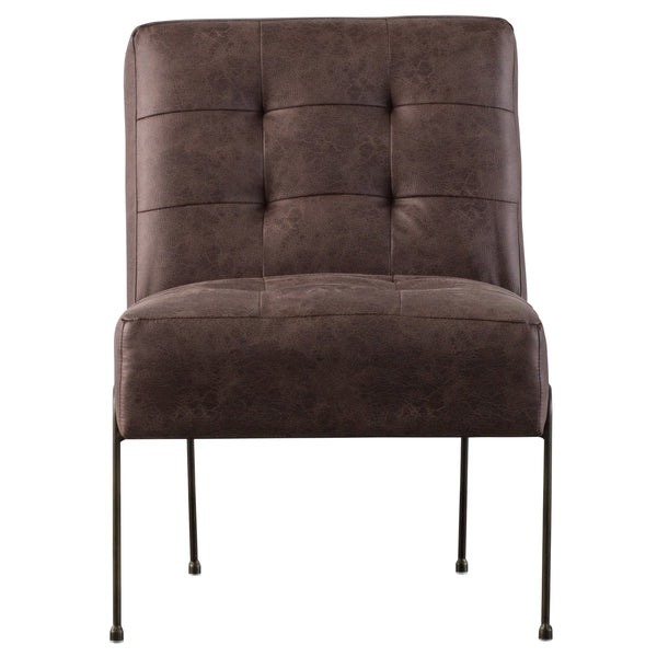 James PU Leather Chair Devore Brown