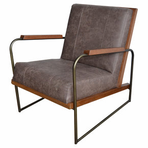 Accent Chairs - New Pacific Direct 9900021-277 Damian PU Leather Accent Chair Devore Brown | 842587122672 | Only $416.80. Buy today at http://www.contemporaryfurniturewarehouse.com