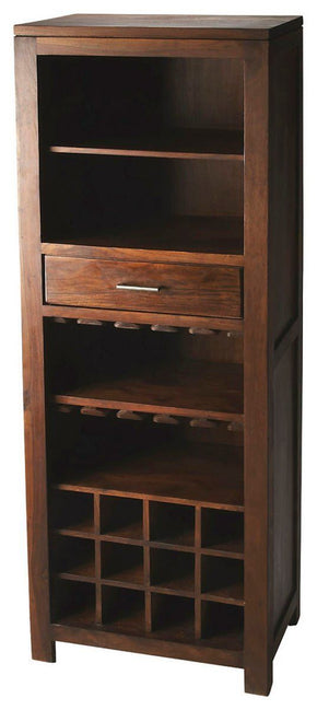Hewett Modern Bar Cabinet Dark Brown