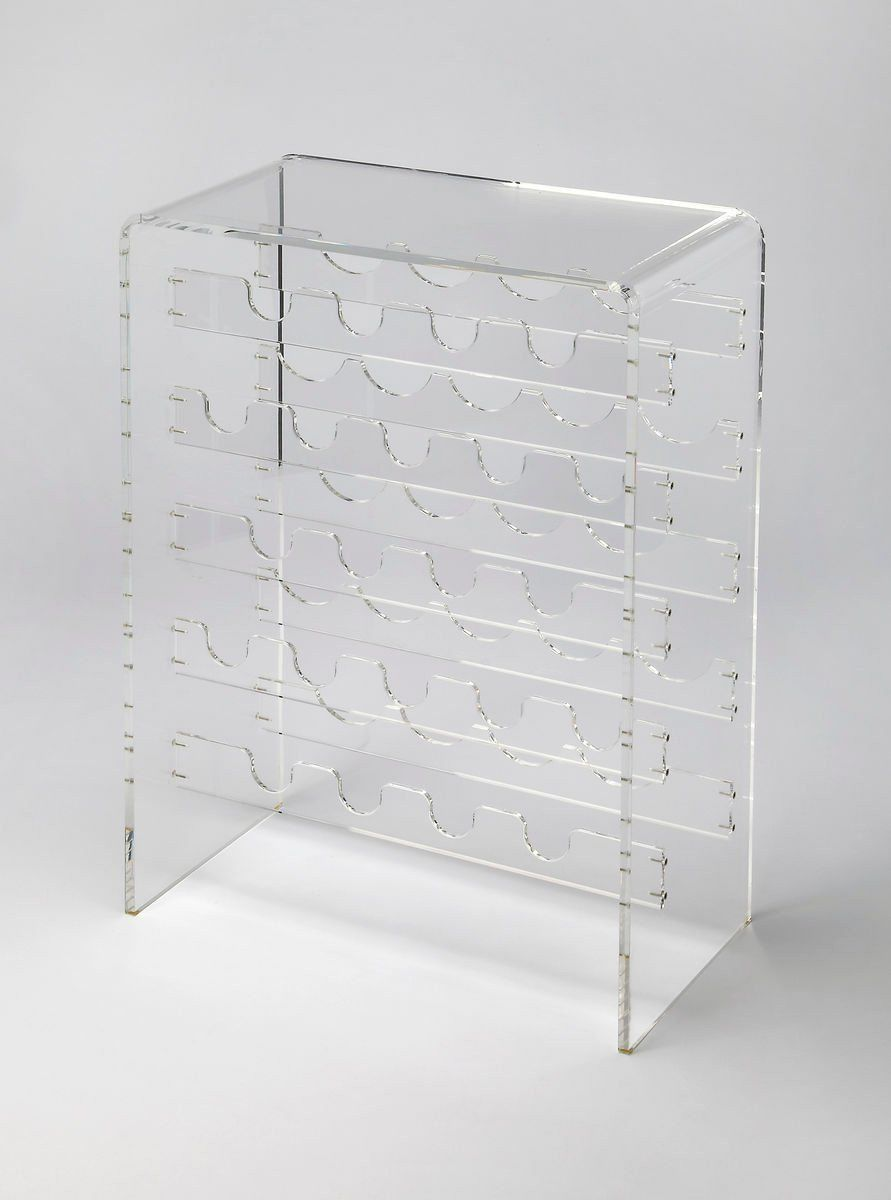 Butler Furniture Crystal Clear Modern Wine Rack Clear But