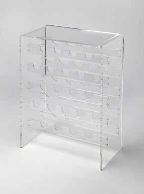 Crystal Clear Modern Wine Rack