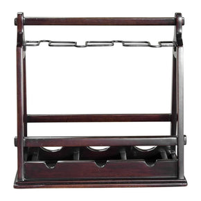 Ossana Mahogany Wine Holder Rack