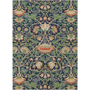 William Morris Arts and Crafts Area Rug Blue, Green