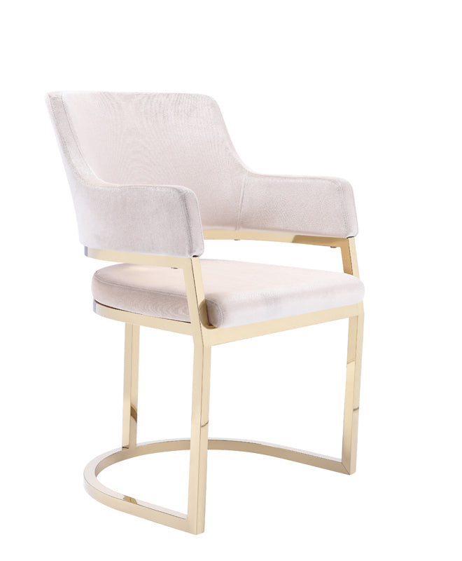 Pleasing Vig Furniture Vgzay607 Crm Modrest Tulsa Modern Cream Velvet Gold Dining Chair Sale At Contemporary Furniture Warehouse Today Only Ncnpc Chair Design For Home Ncnpcorg