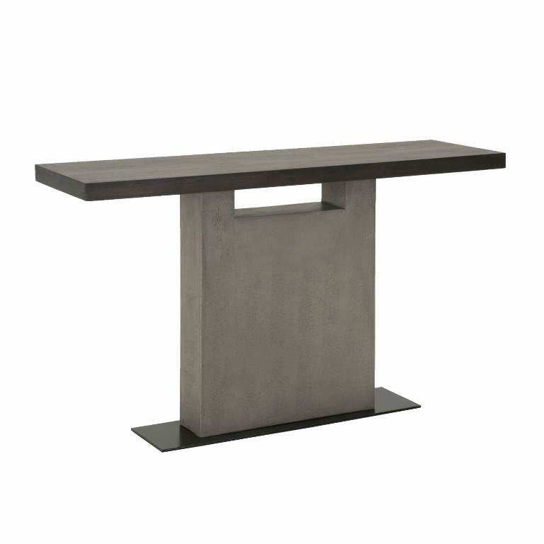 Star international furniture cuba sofa table espresso slate grey cuba sofa table espresso slate grey concrete matte black metal acacia veneer watchthetrailerfo