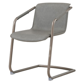 New Pacific Direct 1060007-216 Indy PU Side Chair Silver Frame, Antique Graphite Gray Antique Graphite Gray