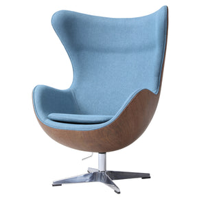 New Pacific Direct 6300041-274 Axis Fabric Swivel Rocker Chair Flint Blue