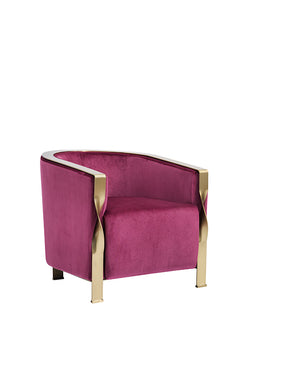 Lounge Chairs - Vig Furniture VGZAZCS600-1-PNK Divani Casa Anthony Modern Pink & Gold Accent Chair | Only $879.80. Buy today at http://www.contemporaryfurniturewarehouse.com