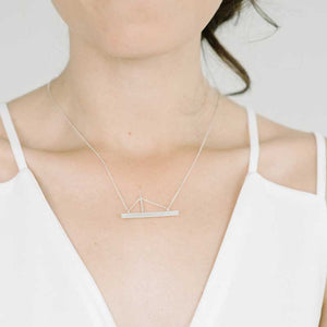 Amplitude Necklace in Sterling Silver