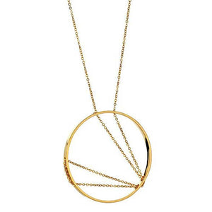 30% OFF!: Arc Necklace in Yellow Gold