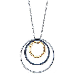 Delano Necklace in Silver, Black, and Gold