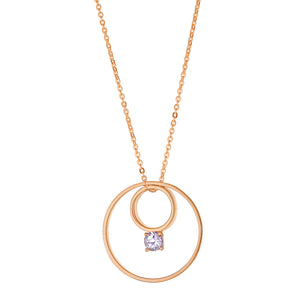 Delmonico Necklace  in Rose Gold with Pink Tourmaline
