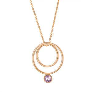 Delvaux Necklace in Rose Gold with Pink Tourmaline