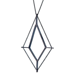 Finestra Necklace in Oxidized Silver