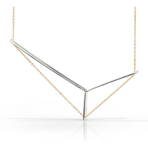Axis Necklace Petite in Silver and Gold