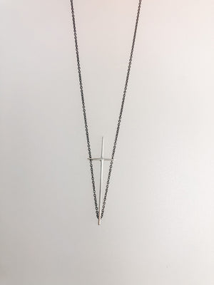 A stunning Sterling Silver pendant is suspended on an 18-inch oxidized silver chain.