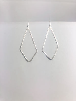 Sterling silver pendant earrings.
