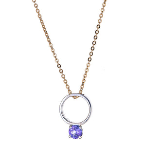 Looking Glass Necklace with Iolite
