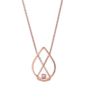 Petal Necklace Petite in Rose Gold with Pale Pink Tourmaline