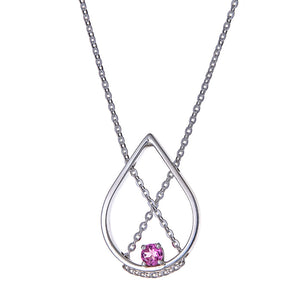 Petal Necklace Petite with Pink Tourmaline