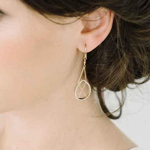 Petal Earrings in Sterling Silver and Gold