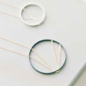 30% OFF! : Arc Necklace in Sterling Silver