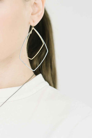 Akara Earrings in Sterling Silver and Gold