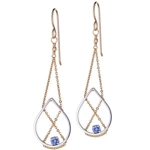 Petal Earrings with Iolite