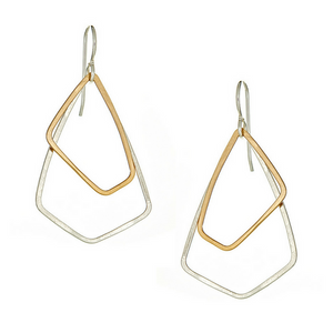 AKARA Earrings Petite in Silver and Gold