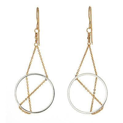 1dc6b04c4 Inner Circle Earrings in Sterling Silver and Gold - Vanessa Gade Jewelry  Design
