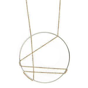 Mondrian Necklace in Silver and Gold