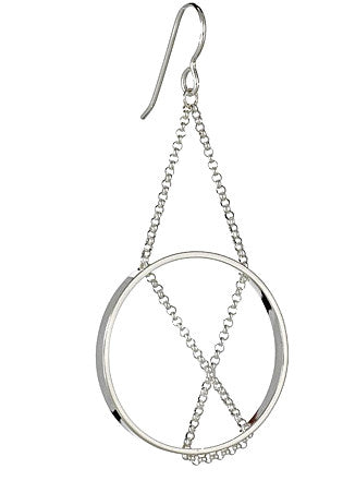 Inner Circle Earrings in Sterling Silver