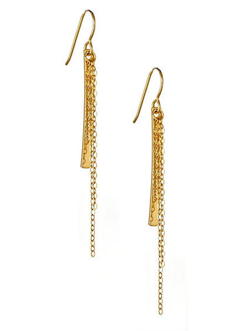 Cascade Earrings in Yellow Gold