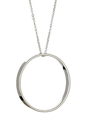 Looking Glass Necklace in Sterling Silver