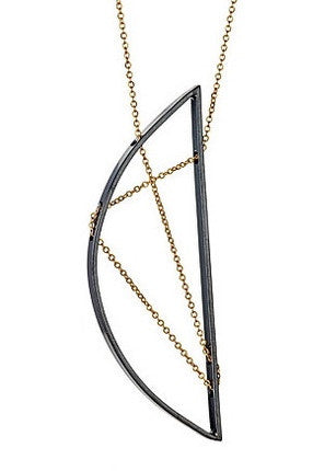 Eames Necklace in Oxidized Silver and Gold