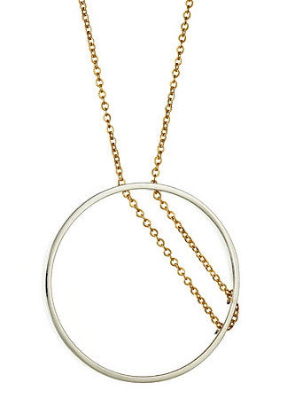 Parallea Necklace in Sterling Silver and Gold