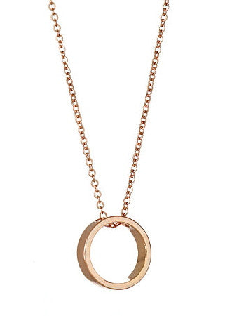 Looking Glass Necklace in Rose Gold