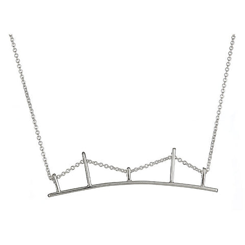 Bridge Necklace in Sterling Silver