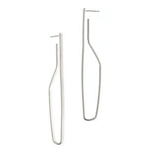 Brancusi Hoops in Sterling Silver