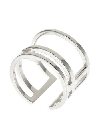 Wright Angle Ring in Sterling Silver