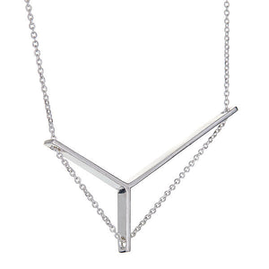 Axis Necklace Petite in Silver