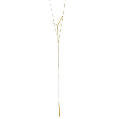 Victoria Lariat in Silver and Gold