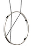 Inner Circle Necklace in Sterling Silver and Oxidized Silver Chain
