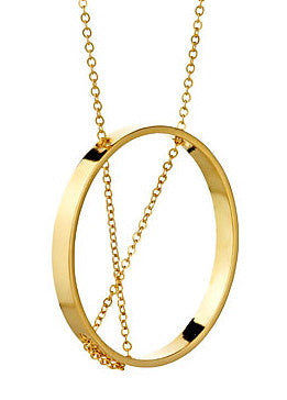 Inner Circle Necklace in Yellow Gold