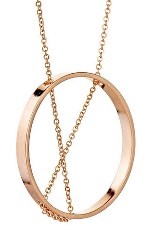 Inner Circle Necklace in Rose Gold