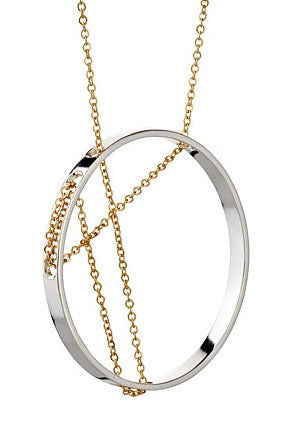 Vitruvia Necklace in Sterling Silver and Gold