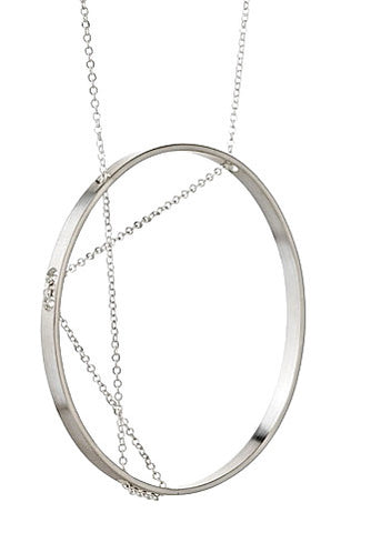 Aperture Necklace in Sterling Silver